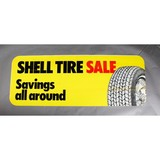 Shell Tire Sale Sign