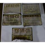 Vintage En-Ar-Co Gas Station Motor Oil Signs (5)