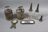 Vintage Gas Cans, Oil, Jars, Miscellaneous (7)