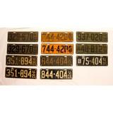 Antique License Plates (11) Multiple Sets