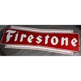 Large Firestone Porcelain Bow Tie Sign