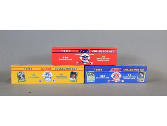 Score Baseball Cards Complete Sets 1988 1989 1990