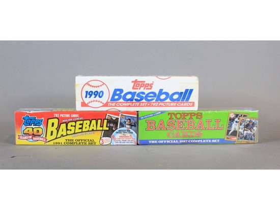 Topps Baseball Cards Complete Sets 1987 1991 1990