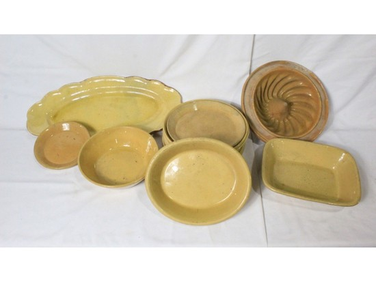 Sharpes Yellow Stoneware Dinner Pieces