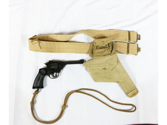 WWII British Holster And Toy Mk IV Webley Gun