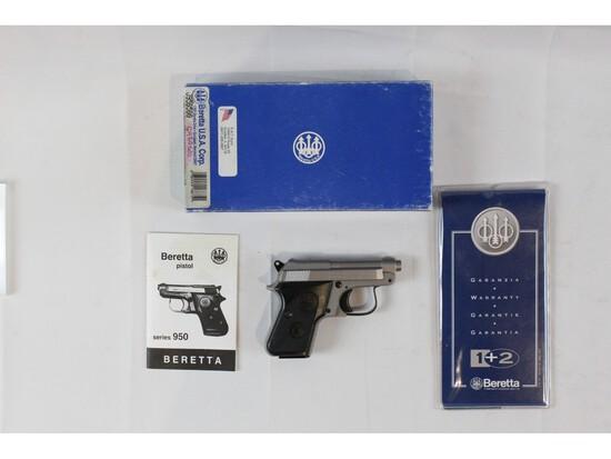 Beretta 950 Inox Jetfire Pistol 25ACP