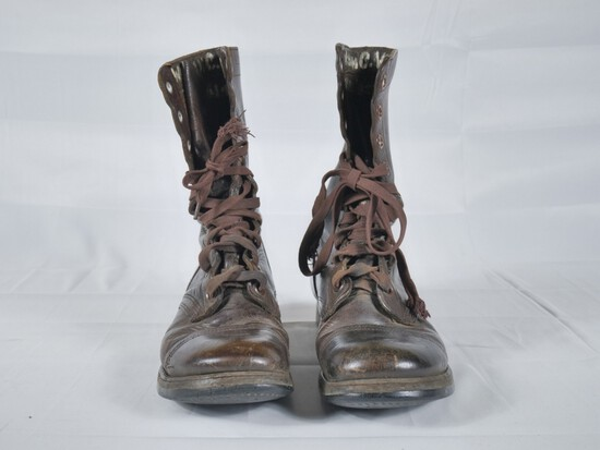 WWII US Army Airborne Paratrooper Brown Boots