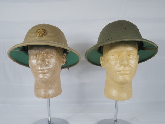 Post WWII US Army US Navy Pith Helmets
