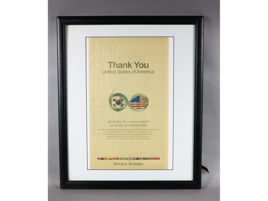Korean War Thank You Page