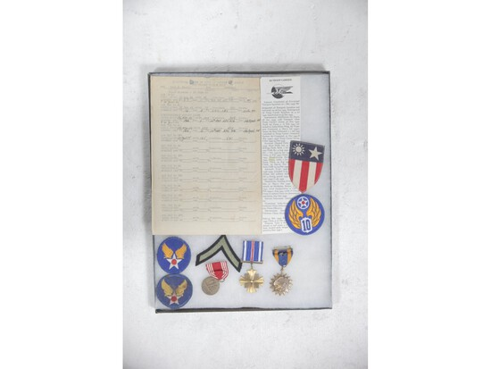 WWII Army Air Force Patch Display
