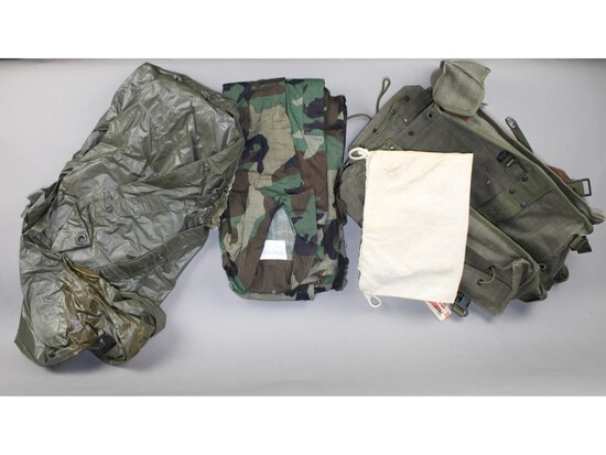 US Military Raincoat, Uniform, Backpack