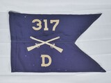 WWII US Army 80th Div. 317th Infantry Guidon