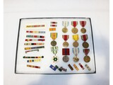 US WWII Post WWII Medal, Ribbon Bar Collections
