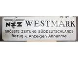 """WWII Nazi """"NSZ Westmark"""
