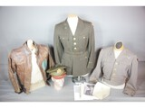 WWII A2 Leather Jacket Grouping Silver Dollar