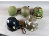 Western European Combat Helmet Lot (5)