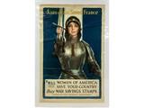 WWI (Joan of Arc) War Savings Stamp Poster