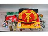 East German Insignia & Flag Lot