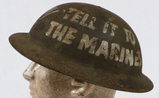 WWI US Marine Corp Painted Dough Boy Helmet