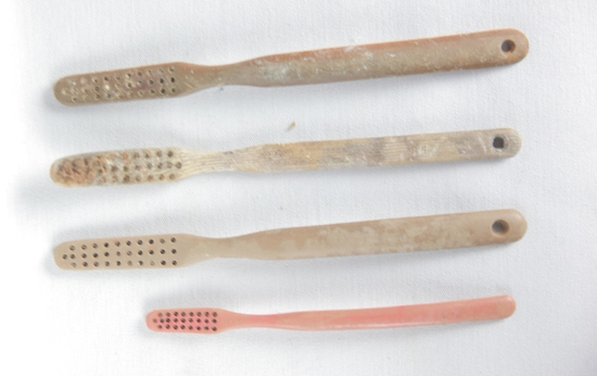 Iwo Jima & Okinawa Recovered Toothbrushes (4)