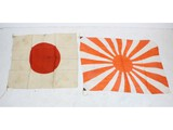 2 WWII Japanese Flags