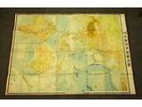 WWII Japanese Large Wall Map