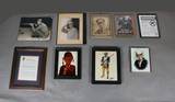 Box Lot of Framed Military Items (8)