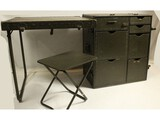 US Military Field Desk & Chair