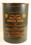 Civil Defense Drinking Water Can 17.5 Gallons