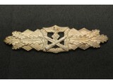 WWII German Combat Clasp in Silver