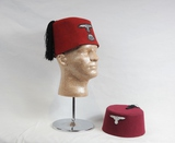 2 WWII Style German Fez Hats