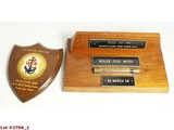 US Military Wooden Office Plaques (2)