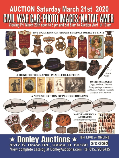 650 Lots in the Civil War/GAR Auction