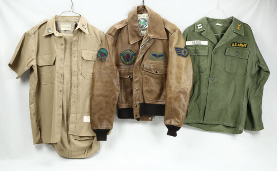 US Military Uniform Lot & Repro Flight Jacket (3)