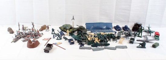 Collection of Army Men w/ Misc. Vehicles