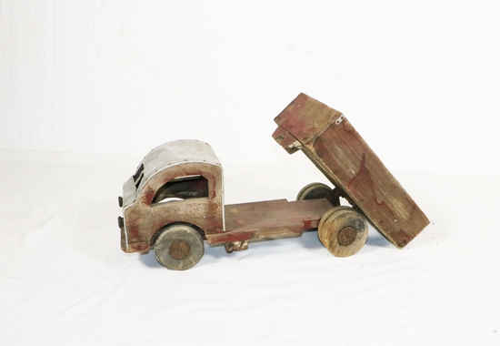 WWII-Era Wood Dump Truck Toy