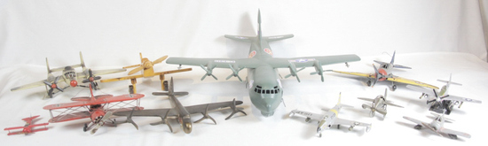 Large Group Toy Military Airplanes (11)