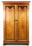 1880's Anglo Indian Rosewood & Satinwood Armoire