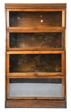 1900's Lundstrom Mahogany 4-Stack Bookcase