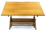 Vintage Oak Hamilton Drafting / Drawing Table