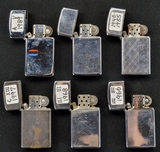Lot of 6 Small Zippo Lighters