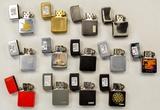 Lot of 13 1980's-90's Zippo Lighters