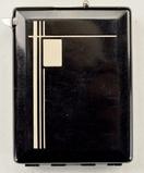 Rare 1930s Art Deco Black Cigarette Case
