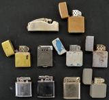 Beattie Jet Lighter and 9 Misc. Lighters