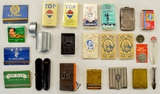 Vintage Matchbooks/Holders & Misc Cigarette Items