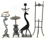Lot of 4 Metal Ashtray Stands