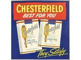 Chesterfield Cigarette Advertising Poster