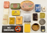 Lot of Tobacco Containers