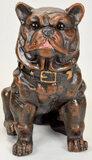Large Cast Iron Bull Dog Bank