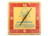 Prestolite Battery Plastic Clock